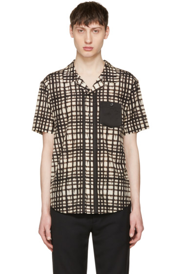 Coach 1941 - Beige & Black Baseman Edition Plaid Shirt