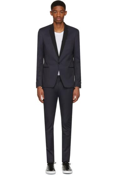Philippe Dubuc - Navy Tuxedo Suit