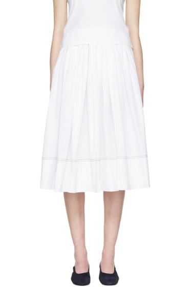 Khaite - White Poplin Celia Skirt