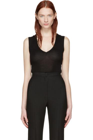 Khaite - Black Knit Gabrielle Bodysuit