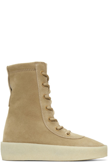 YEEZY - Taupe Suede Crepe Boots
