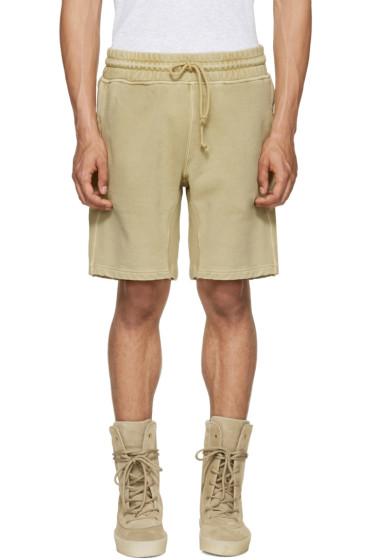 YEEZY - Beige Panelled Sweatshorts