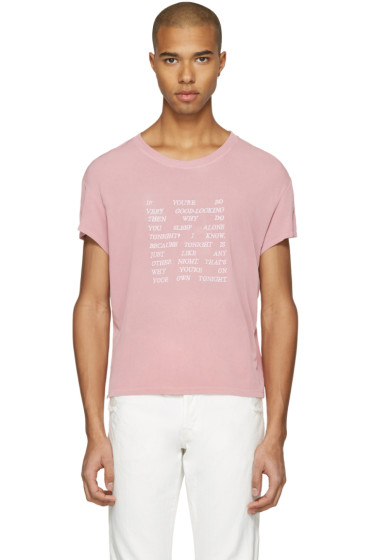 Empathy Los Angeles - Pink 'Alone' T-Shirt