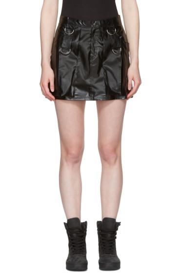 MISBHV - ブラック フェイクレザー ミニスカート