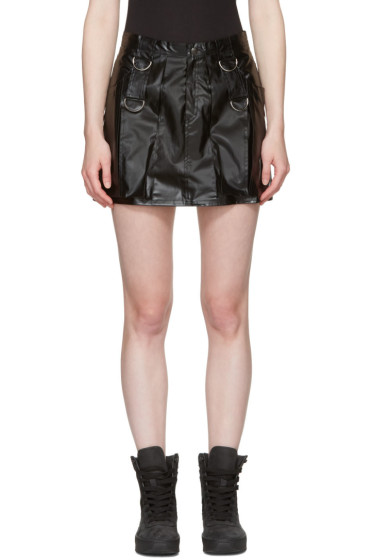 MISBHV - Black Faux-Leather Miniskirt