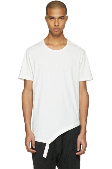 The Viridi-anne - White Asymmetric T-Shirt