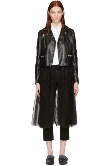 Chika Kisada - Black Leather & Tulle Jacket