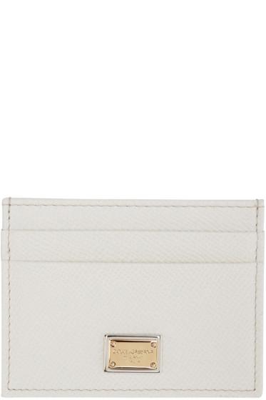 Dolce & Gabbana - White Leather Card Holder