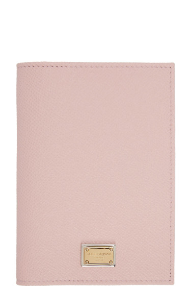 Dolce & Gabbana - Pink Leather Passport Holder