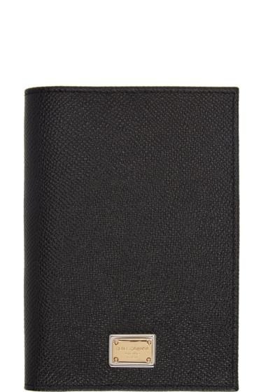 Dolce & Gabbana - Black Leather Passport Holder
