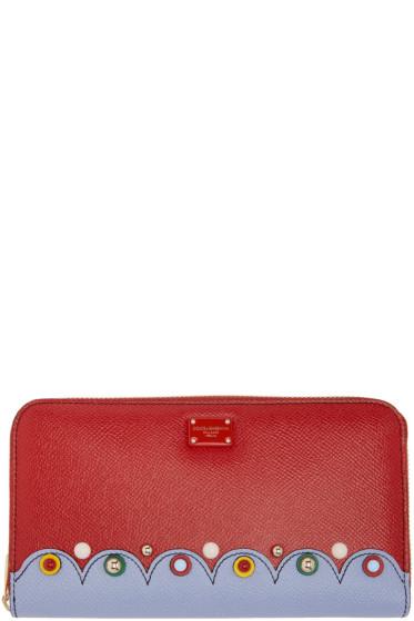 Dolce & Gabbana - レッド コンチネンタル ジップ アラウンド ウォレット