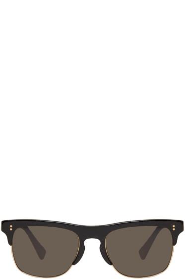 Dolce & Gabbana - Black Semi-Rimless Sunglasses