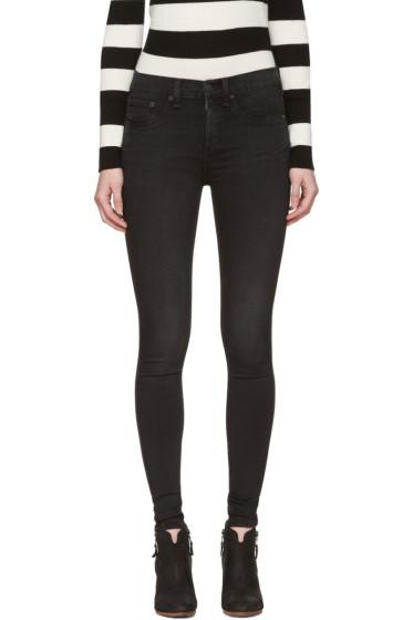 Rag & Bone - Black 10 Inch Skinny Jeans