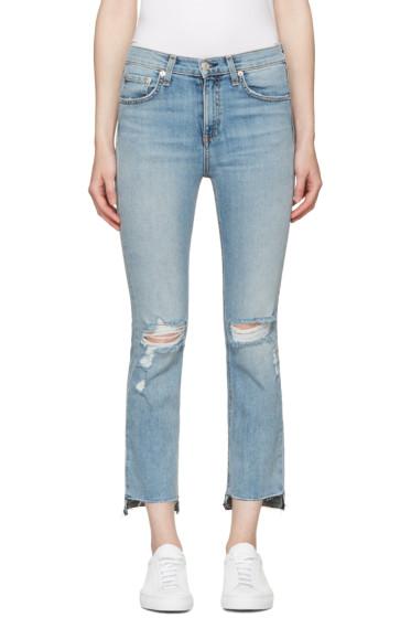 Rag & Bone - Bllue 10 Inch Stove Pipe Jeans