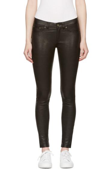Rag & Bone - Black Skinny Leather Pants