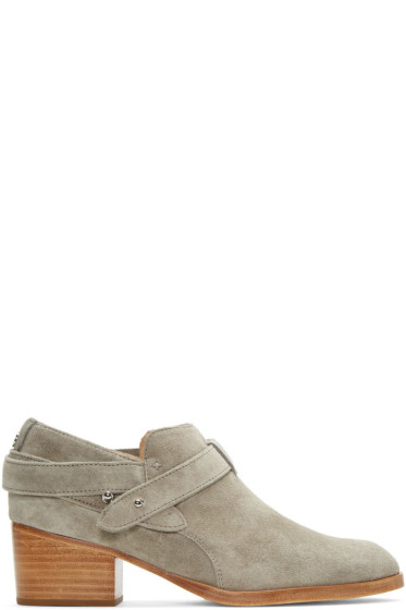 Rag & Bone - Taupe Suede Harley Boots