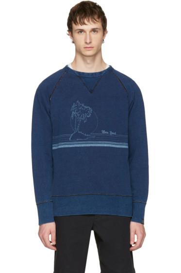 Rag & Bone - Indigo 'New York' Vacation Sweatshirt