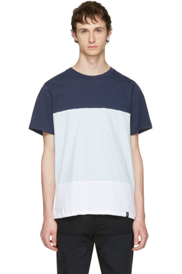 Rag & Bone - Blue & White Precision T-Shirt