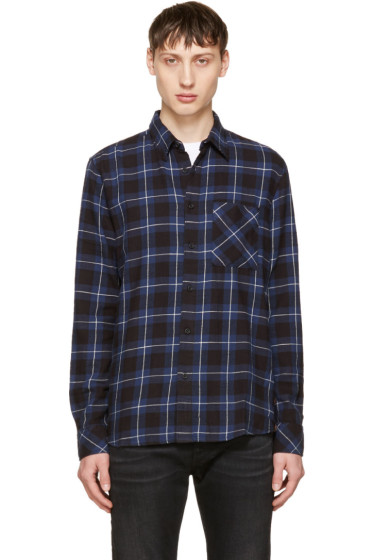 Nudie Jeans - Indigo Sten Block Check Shirt