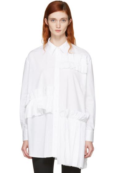 McQ Alexander McQueen - White Ruffle Tunic Shirt