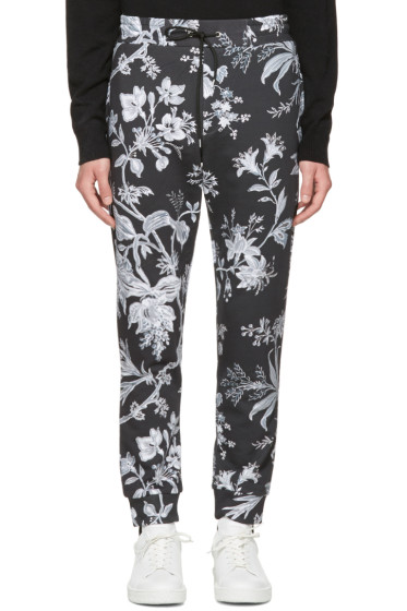 McQ Alexander McQueen - Grey Floral Lounge Pants