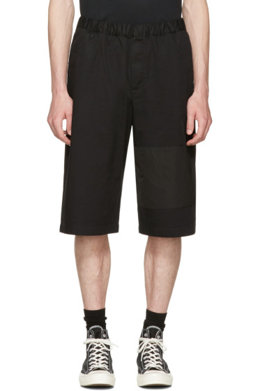 McQ Alexander McQueen - Black Panelled Chino Shorts
