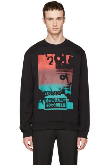 McQ Alexander McQueen -  Black Katsumi Clean Sweatshirt