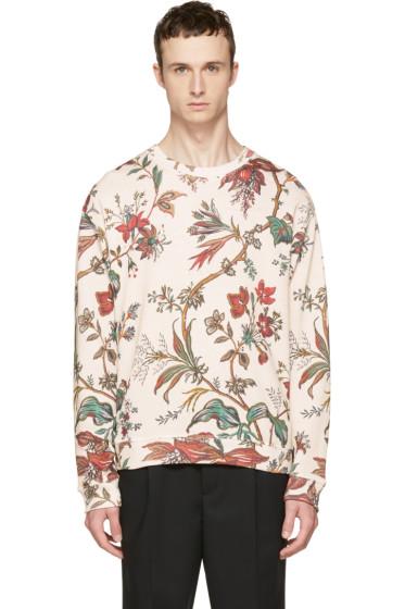 McQ Alexander McQueen - Beige Oversized Floral Sweatshirt