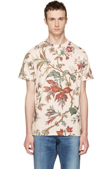 McQ Alexander McQueen - Beige Floral T-Shirt