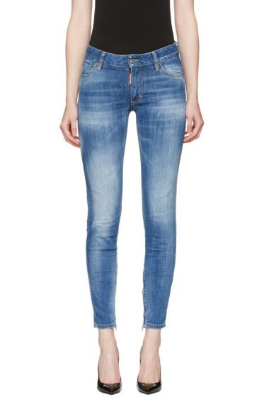 Dsquared2 - Blue Medium Waist Skinny Jeans