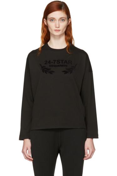 Dsquared2 - Black Long Sleeve Logo T-Shirt