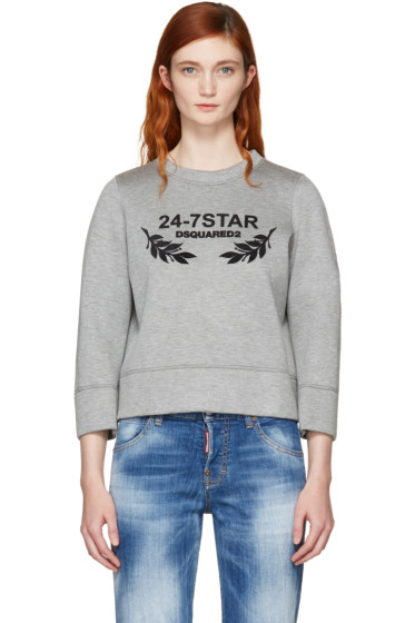 Dsquared2 - Grey Felted Logo Sweatshirt