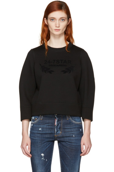 Dsquared2 - Black Felted Logo Sweatshirt