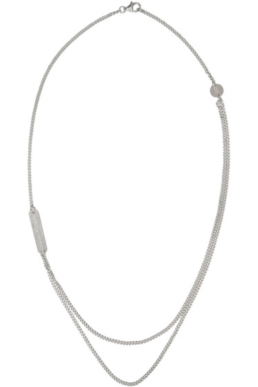 Maison Margiela - Silver Double Chain Necklace