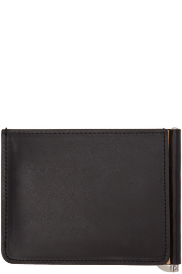 Maison Margiela - Black & Beige Trifold Wallet