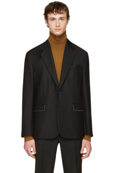 Maison Margiela - Black Stitch Detail Blazer