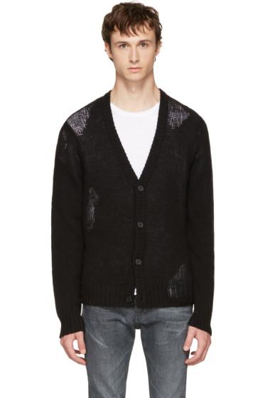 Maison Margiela - Black Wool Cardigan