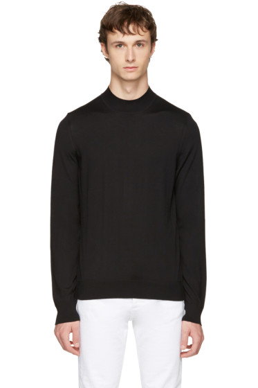 Maison Margiela - Black Mock Neck Sweater