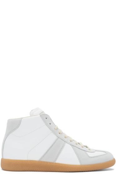Maison Margiela - White Replica Mid-Top Sneakers