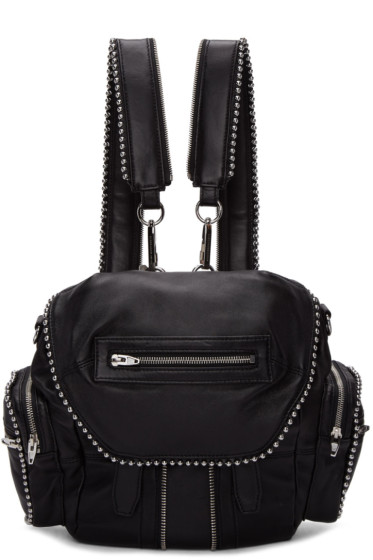 Alexander Wang - Black Mini Ball Stud Marti Backpack