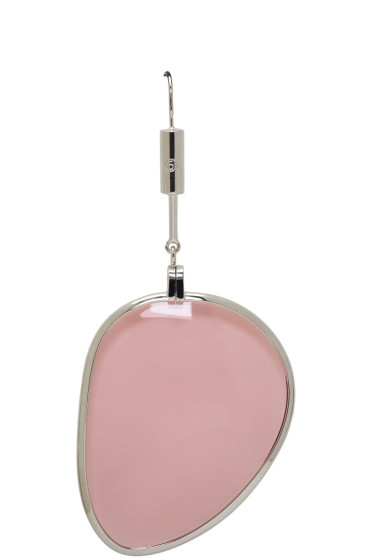 MM6 Maison Margiela - Pink Large Pendant Earring