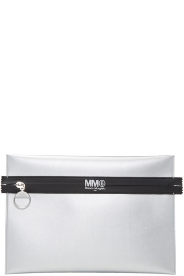 MM6 Maison Margiela - Silver 'Sleep Tight Tiger' Zip Pouch