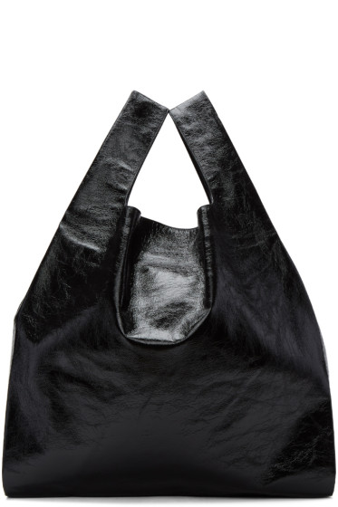MM6 Maison Margiela - Black Patent Shopping Tote