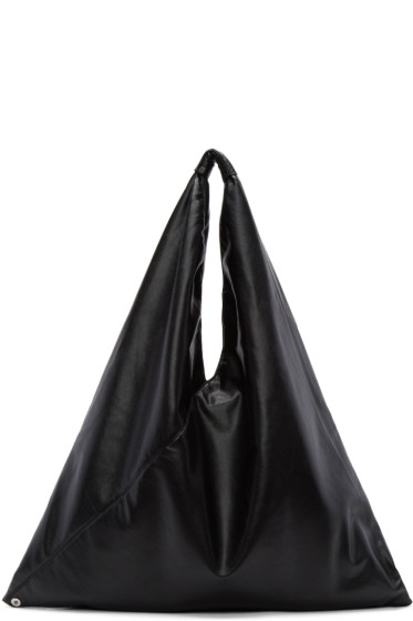 MM6 Maison Margiela - Black Faux-Leather Tote
