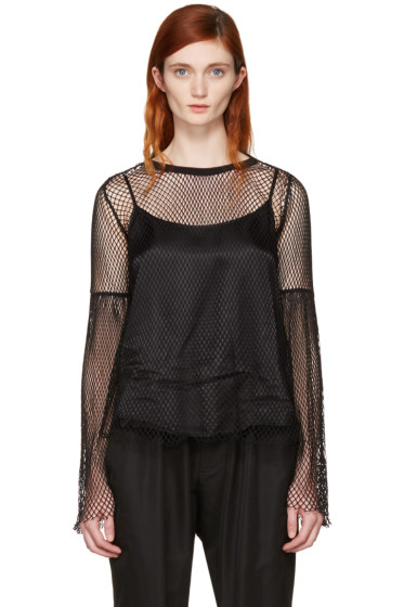 MM6 Maison Margiela - Black Mesh Blouse