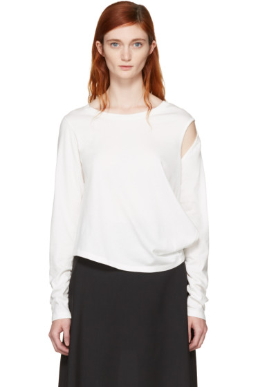 MM6 Maison Margiela - Off-White Crooked T-Shirt