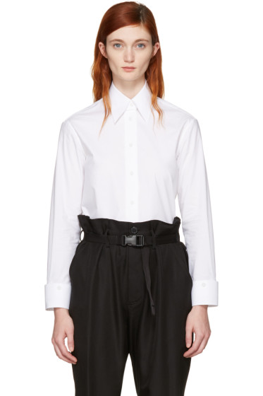 MM6 Maison Margiela - White Convertible Double Collar Shirt