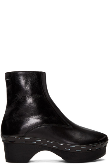 MM6 Maison Margiela - Black Clog Boots