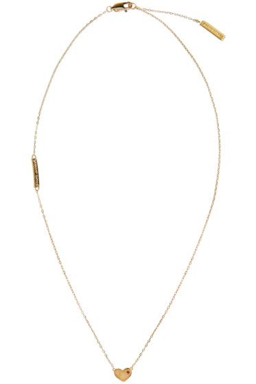 Marc Jacobs - Gold Heart Something Special Necklace
