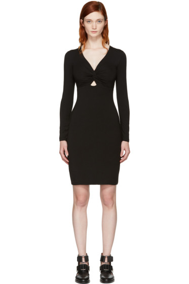 T by Alexander Wang - Black Twist Front Dress